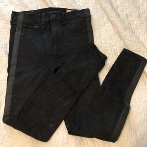 Rag & Bone Black Skinny Jeans w Side Stripe